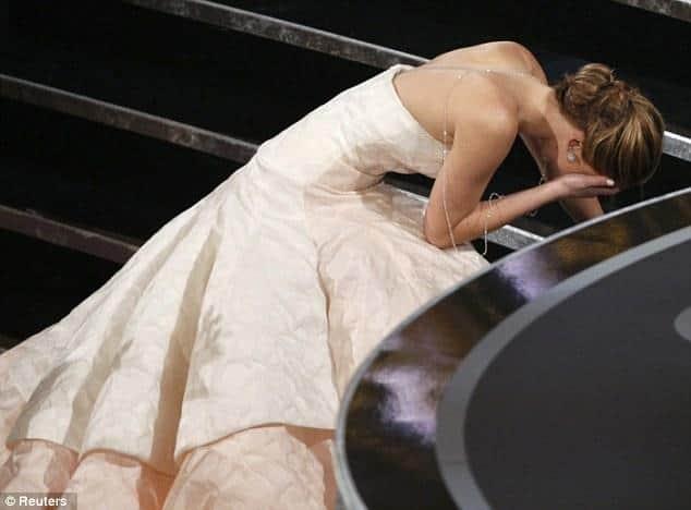 woman falls